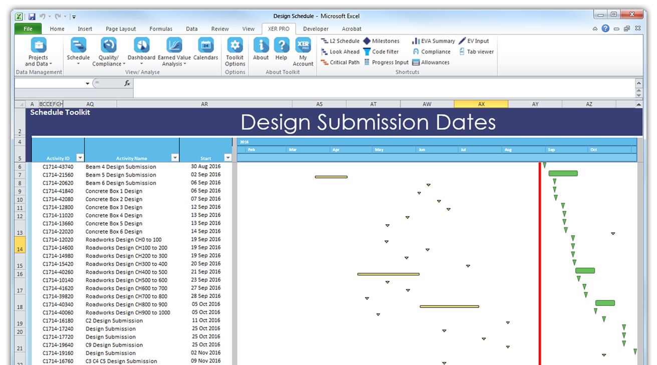 Design Submission Dates
